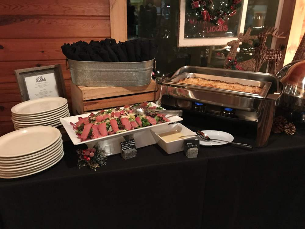 buffet at a catering event