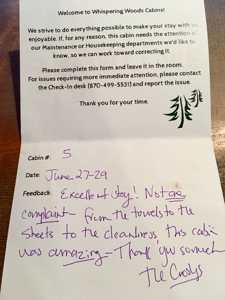 Customer Comments Lake Norfork Gourmet Restaurant And Cabins