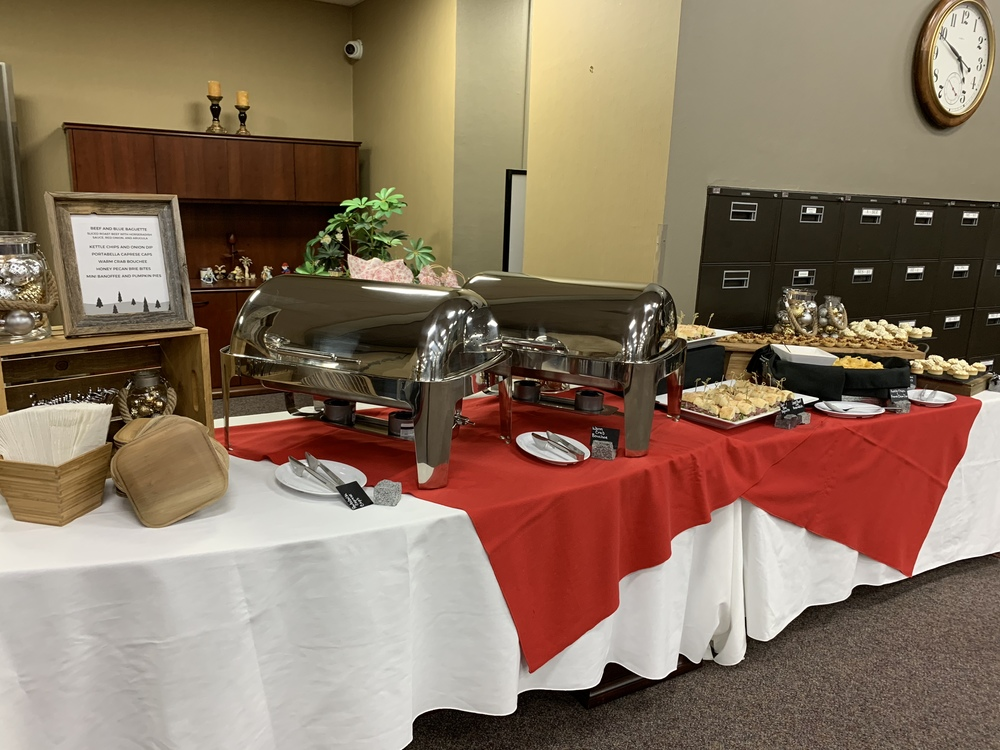 catering buffet setup